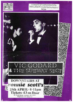 Vic Godard & Subway Sect at Club Keft (Ronnie Scotts)